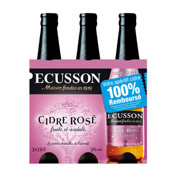 Ecusson rosé 3x33cl promo 2014 3%vol