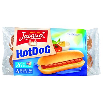 Pain special Hot-Dog Jacquet, 4 pieces, 240g