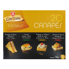Canapes aperitifs Cote Table x20 140g
