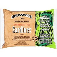 Sardines Brunswick canadiens style avec Hot Peppers (liste 106g) - Paquet de 2