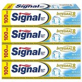 Signal Integral 8 White Dentifrice 100 ml - Lot de 4