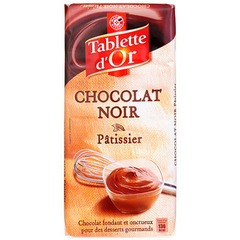 Chocolat patissier Tablette Or Noir 200g