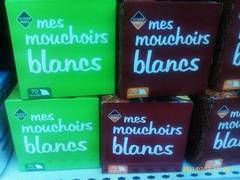 70 Mouchoirs blancs