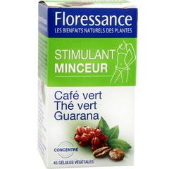 Gélules stimulant minceur café vert, thé vert et guarana