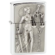 Zippo Collection 2013 2.003.182 Cigarette Lighter Lady Justice Emblem Street Chrome