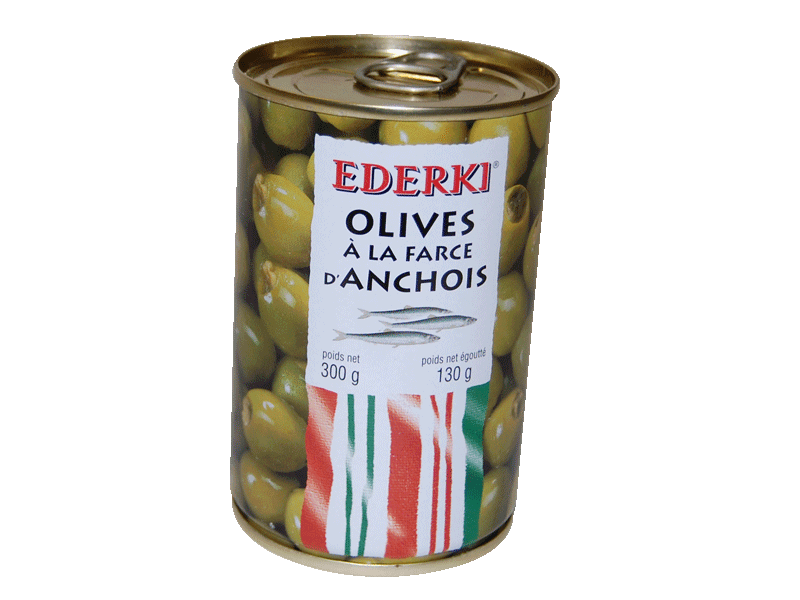 Olives à la farce d'anchois Ederki