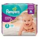 Pampers active fit mid pack 4/9kg midi change x30 taille3
