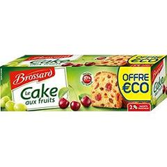 Brossard le cake aux fruits 2x250g