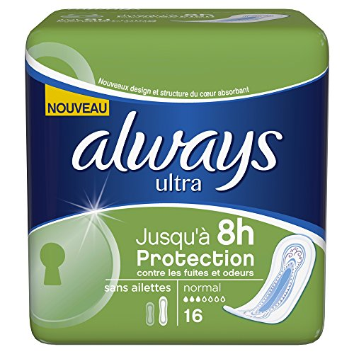 Always ultra serviettes hygieniques normal x16