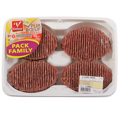 Steack hache Pack Valtero Pur boeuf 15%mg x8 800g