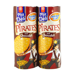 Biscuits P'tit deli Pirates Chocolat 2x330g
