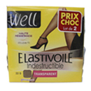 Well elastivoile indestructible transparent 22D taille 4 x2