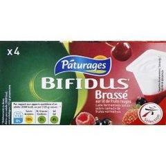 Paturages, Bifidus brasse sur lit de fruits rouges, les 4 pots de 125 gr