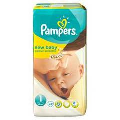 Pampers, Couches new baby, taille 1 : 2-5 kg, le paquet de 45