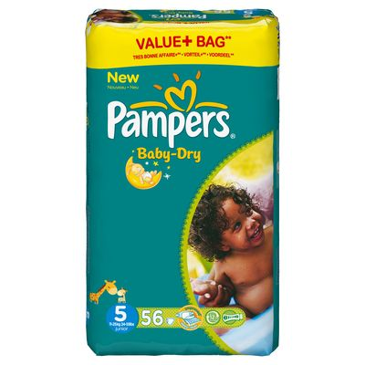 Pampers couches baby dry taille 5 11 25 kg le paquet - Combien coute un paquet de couche pampers ...