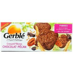 Biscuits fibres choco pécan GERBLE, 132g