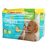 Couches Pampers Baby Dry Jumbo + T4 + x76