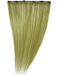 Love Hair Extensions - LHE/A1/QFC12/18/GREEN - 100 % Cheveux Naturels - Barrette Unique Extensions à Clipper -...