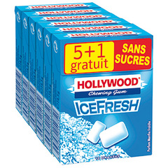 Chewing-gum Hollywood ice fresh Sans sucre x5 87gr