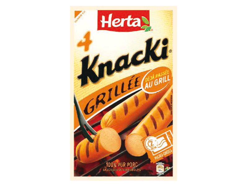 Knacki grillees HERTA, 4 pieces, 280g