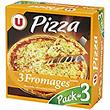 Pizza 3 fromages (mozzarella,emmental,cheddar) U, 3x350g