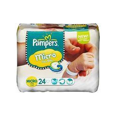 Pampers, Couches new baby, taille Micro : 1-2,5 kg, le paquet de 24
