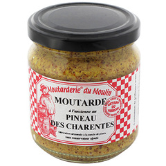 Moutarde Moutarderie du Moulin Ancienne au pineau 200g