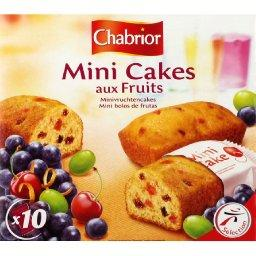 Mini cakes aux fruits, le paquet de 10 - 300g