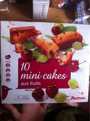 Auchan mini cakes aux fruits x10 -300g
