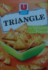 Crackers aperitif Triangle au sesame U, 100g