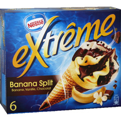 Cones glaces banana split EXTREME, 6x120ml