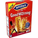 Mc Vitie's Biscuits Good Morning Cranberry le paquet de 205 g