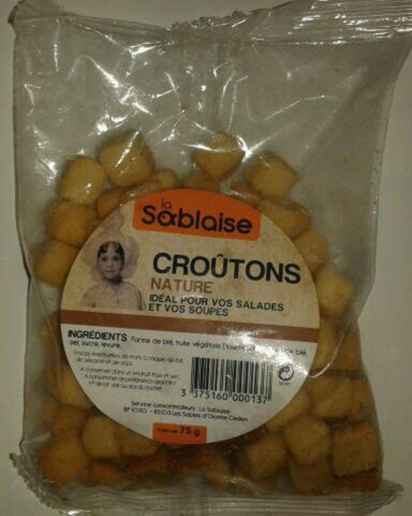 Croutons nature 75g
