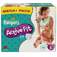 Couches Pampers Active Fit, T3 4-9kg x120 Budget box