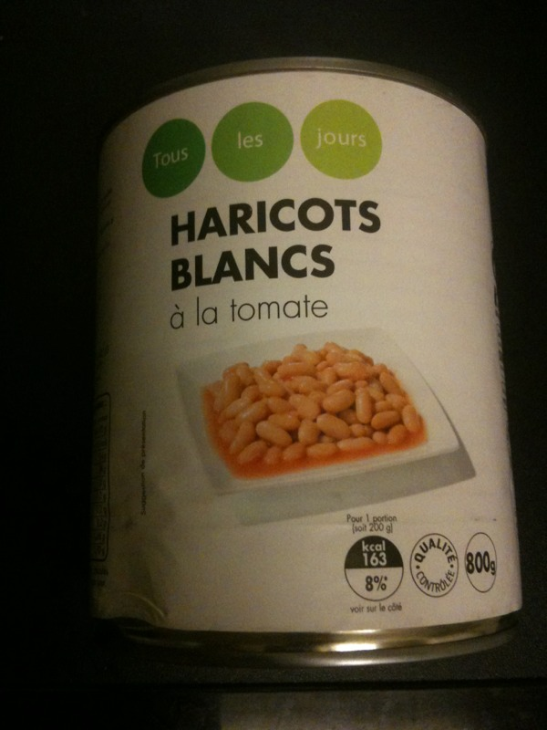 Haricots blanc a la tomate 800gr