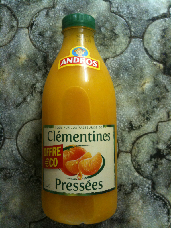 Pur jus clementine andros 1l
