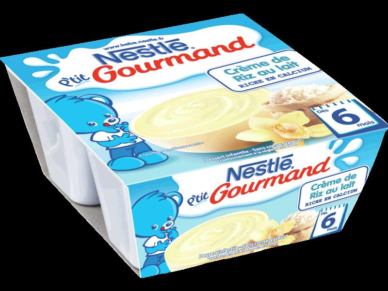 creme de riz au lait infantile des 6 mois les 4 pots de 100g tous les produits desserts