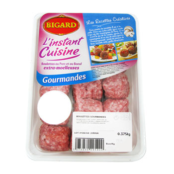 Boulettes gourmandes BIGARD, 15 pieces, 375g