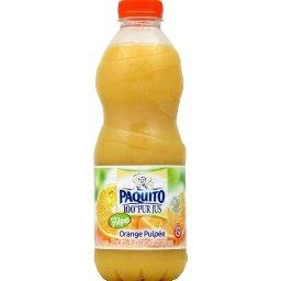 100% pur jus Orange pulpee, pur jus d'orange avec pulpe, La bouteille de 1l