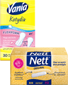 Tampons Normal + Protege slip, FlexiForm Fresh, Kotydia