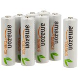 AmazonBasics Lot de 8 piles rechargeables Ni-MH Type AA 1000 cycles 2000 mAh/minimum 1900 mAh