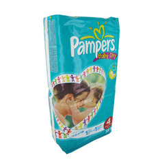 Couches Baby Dry geant PAMPERS, taille 4, 7 a 18kg, 56 unites