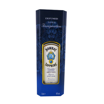 Bombay sapphire dry gin 70cl 40%vol + coffret epices