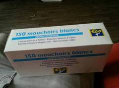 Mouchoirs blancs Eco+ x150