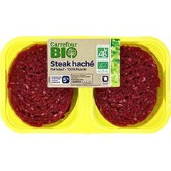 Steaks haches bio <5% mg