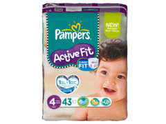 Pampers active fit 7-18kg geant T4 maxi x43