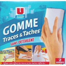 Gomme multi usages traces et taches U, 2 unites