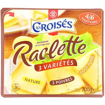 fromage raclette les croises 3 varietes 26 mg 700g tous les produits fromages pour la cuisine. Black Bedroom Furniture Sets. Home Design Ideas