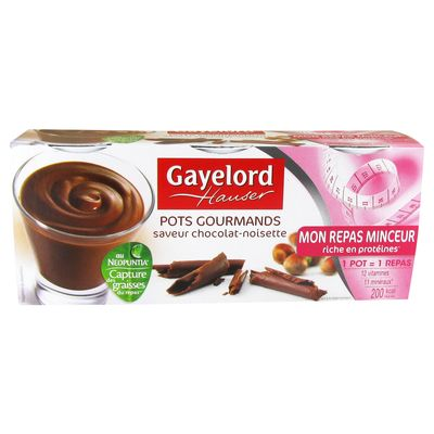Creme proteinee saveur chocolat noisette gaylord hauser