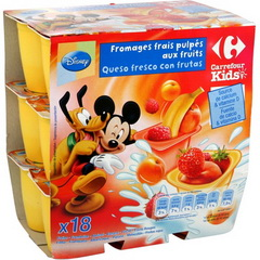 Fromage frais Petit Froossy fruits Carrefour Kids